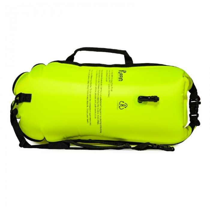 Puffin R28 Drybag Float neon yellow rear