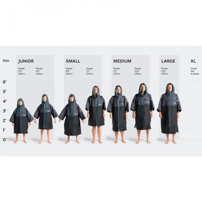 robie-dry-series-short-sleeve-changing-robe_Size Chart